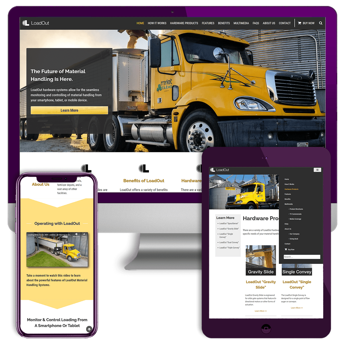 LoadOut Website Screenshots