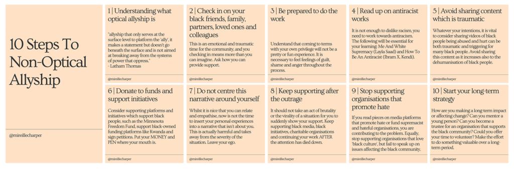 10 Steps to Non-Optical Allyship by Mireille Cassandra Harper